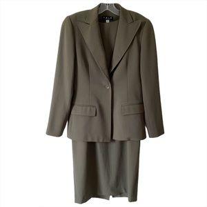 Vintage Trio Size 4 Brown Suit Set Dress Blazer